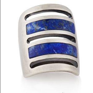 Pamela Love Sterling Silver Lapis Lazuli Ring